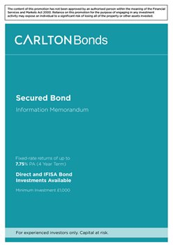 image for MAVEN Bonds Brochure